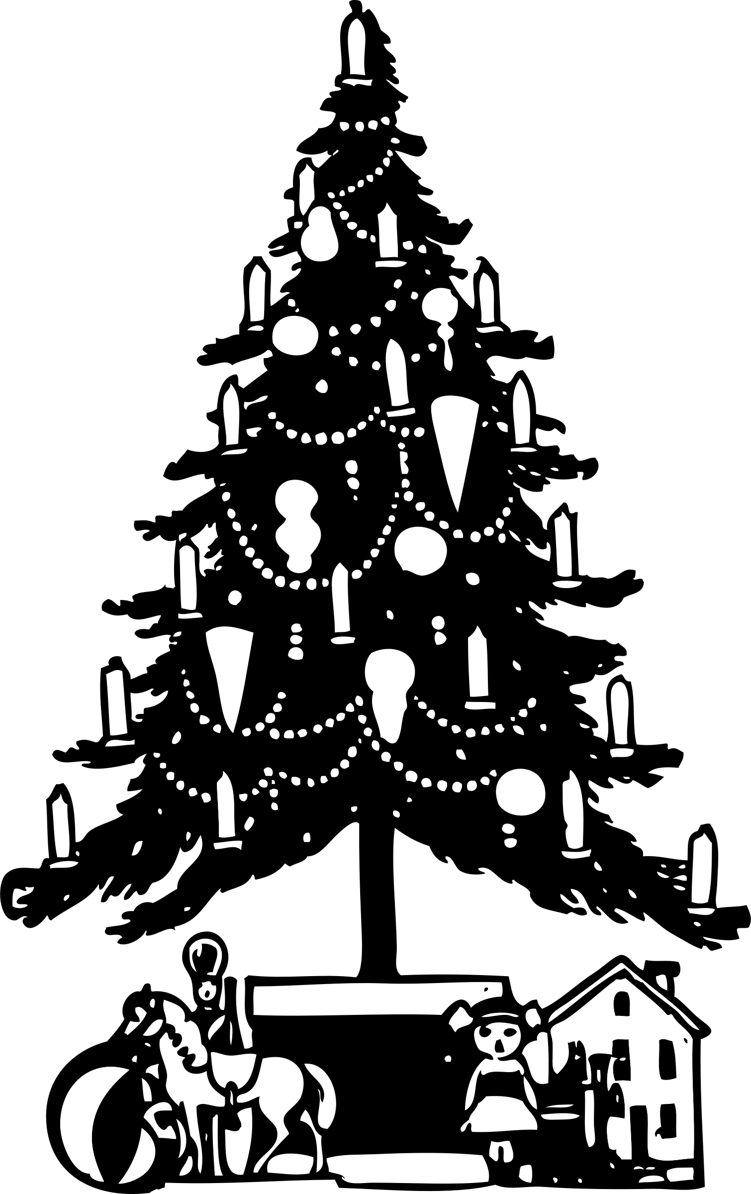 Black and white christmas tree clip art pictures to pin on pinterest - Find This Pin And More On Christmas Clip Art By Maliboo1