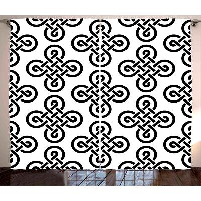 Leisha Hills Graphic Print Text Semi Sheer Rod Pocket Curtain Panels Set Of 2 In 2020 Rod Pocket Curtain Panels Rod Pocket Curtains Panel Curtains