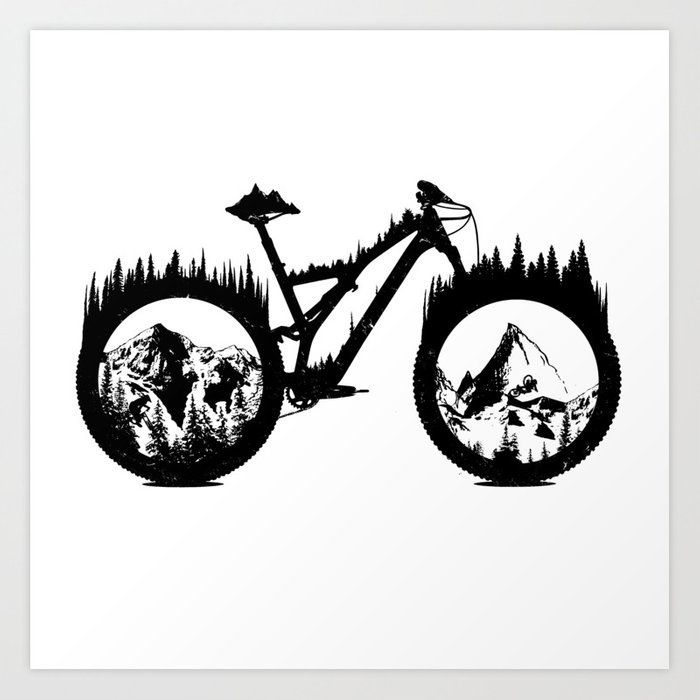Buy Enduro Bike Art Print By Oneredfox Worldwide Shipping