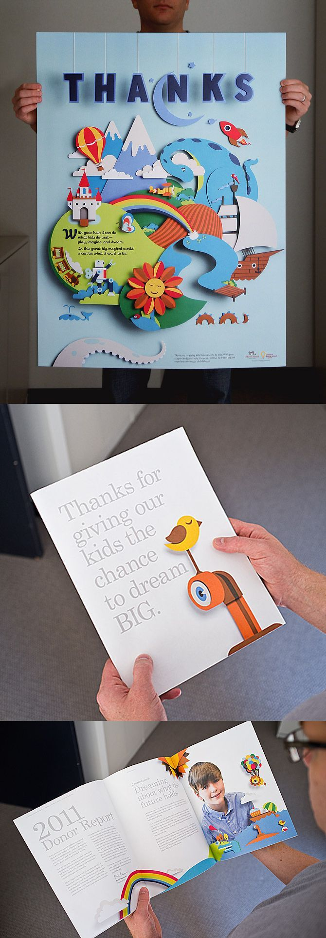Poster design 3d - Children S National Medical Center Donor Annual Report Poster