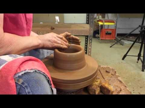 How To Make A Pottery Casserole Dish Step One Throwing The Bowl On The Wheel Pottery Videos Pottery Techniques Thrown Pottery