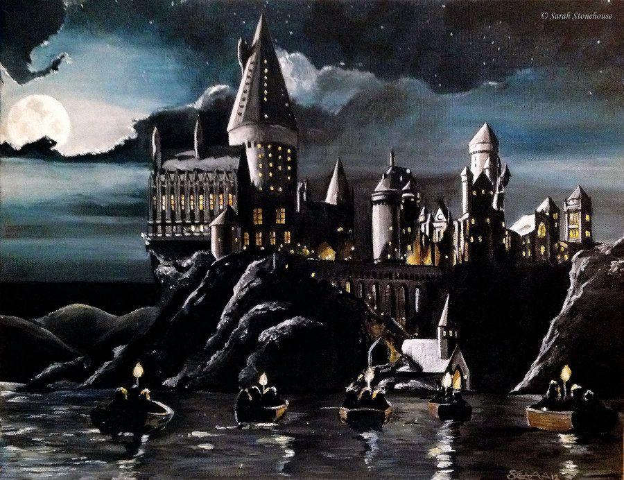 Harry Potter Book Art Hogwarts Hogwarts by *Sa...