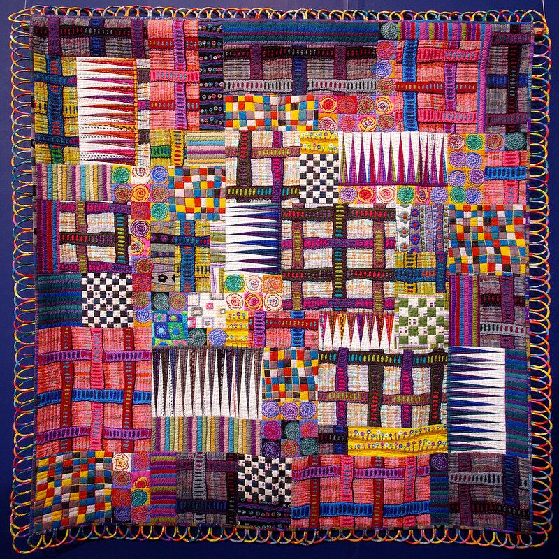 Connection by Sano Junko (Click on any image for a larger view). Today I am sharing with you more photos of the quilts that we...