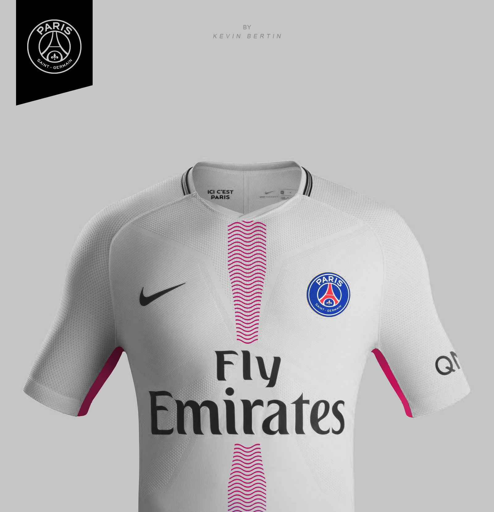 PSG Concept Design Jersey maillot 2018-2019 away Paris Saint-Germain Nike  By Kevin