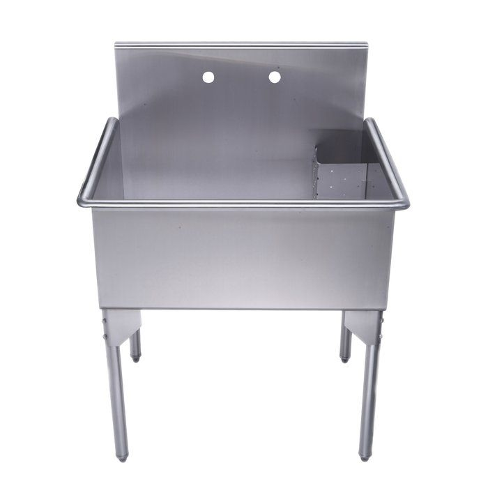 """pearlhaus 33.13"""" x 27.13"""" free standing service sink"""