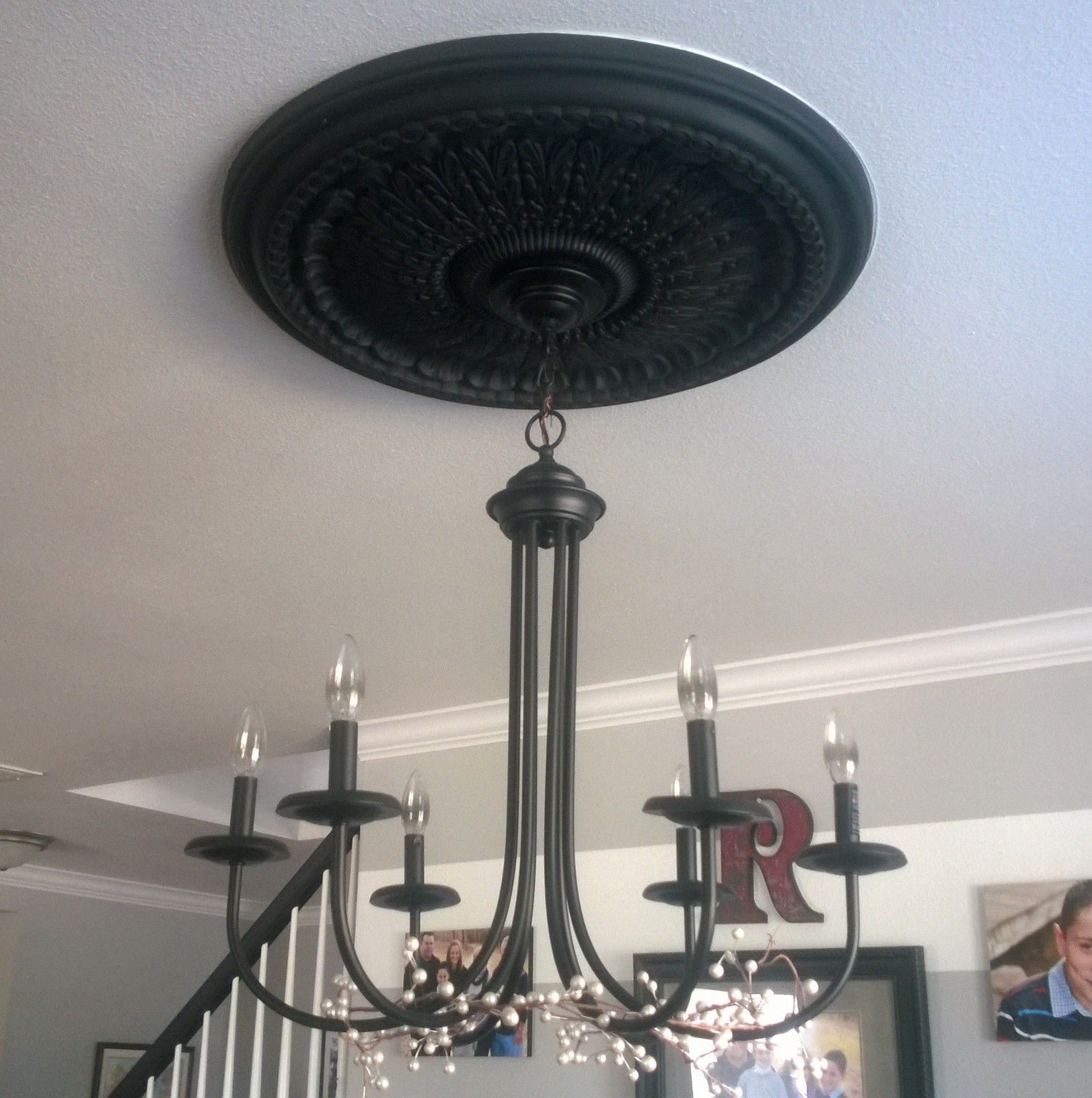 I Loved My Ceiling Medallion But Disliked How It Was Painted White
