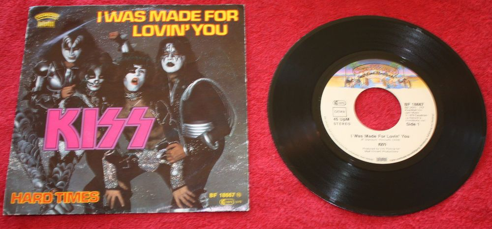 KISS I WAS MADE FOR LOVING YOU + HARD TIMES 7  VINYL PC