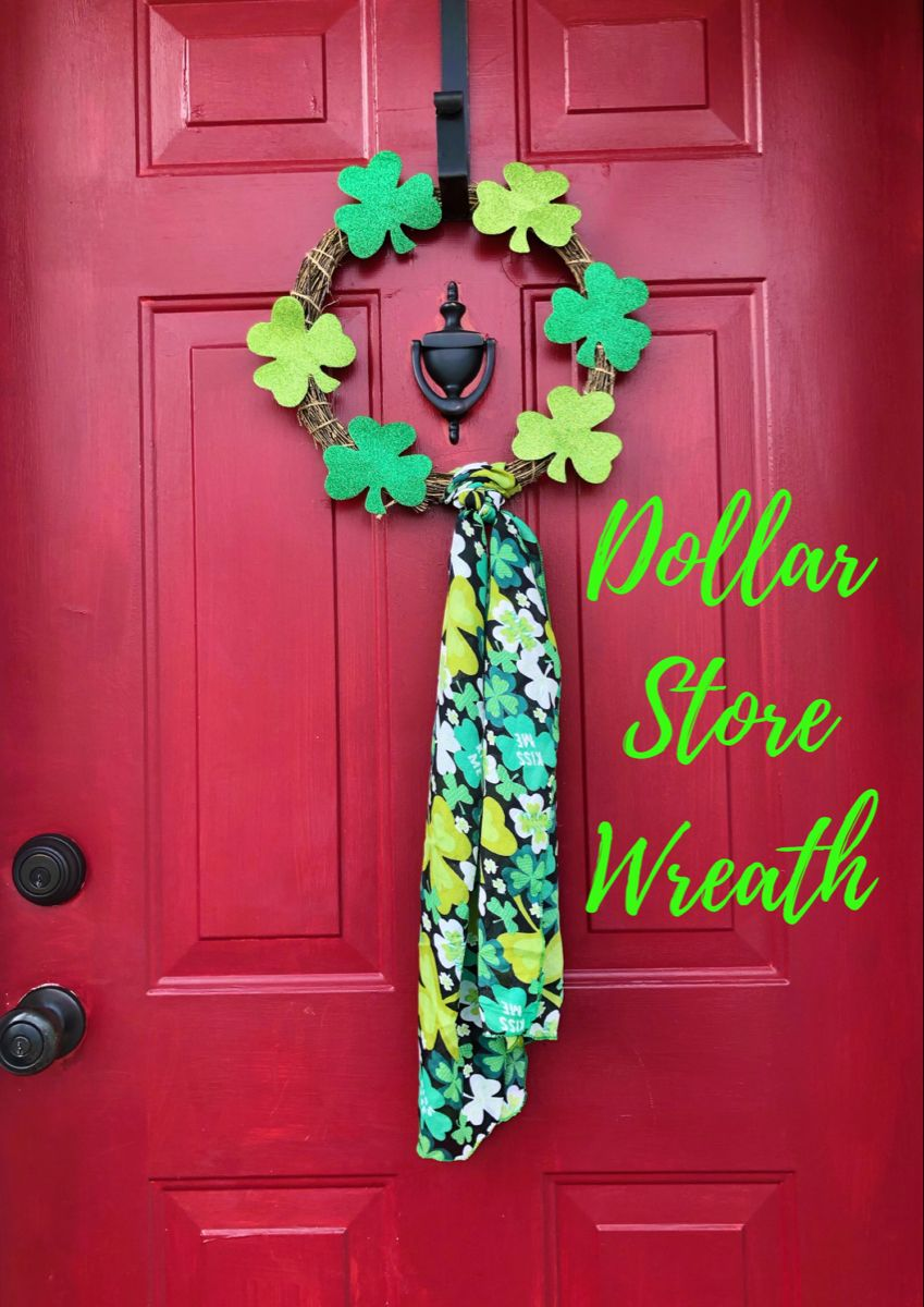 Easy Dollar Store Wreath for St. Patrick's Day in 2020