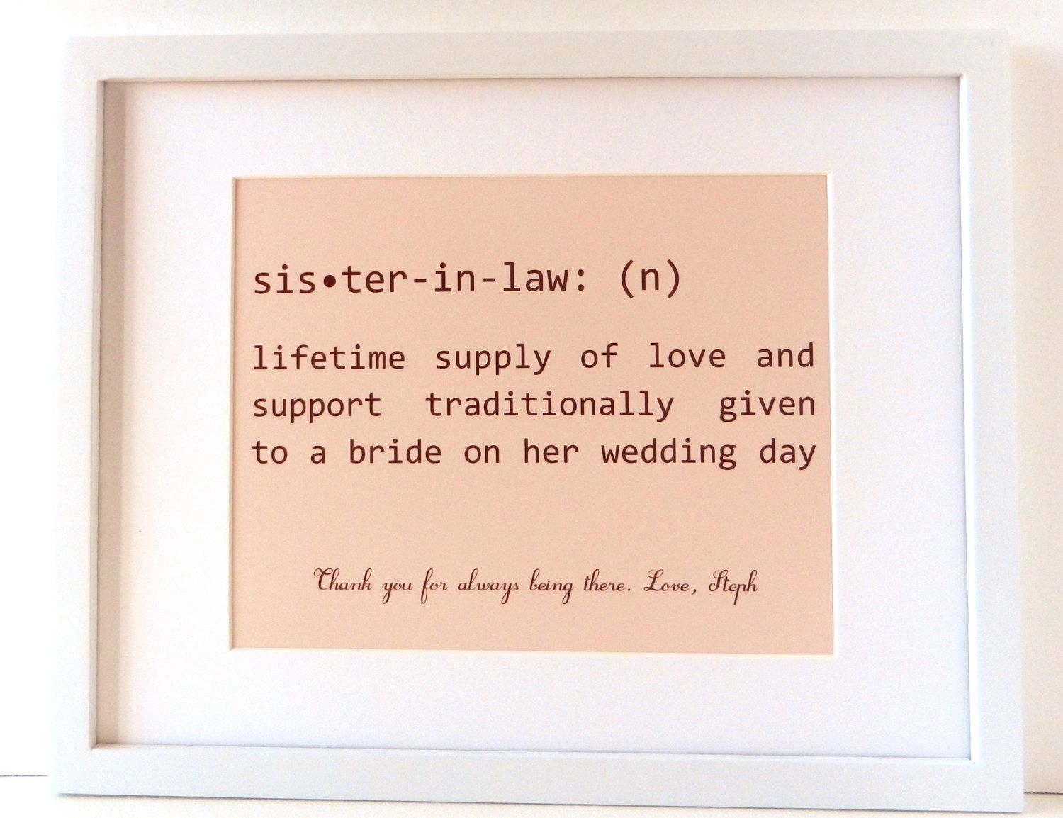 Typography Art Art Sayings Family Word Art Sister In Law 20 00 Via Etsy Sister In Law Quotes Family Word Art Law Quotes
