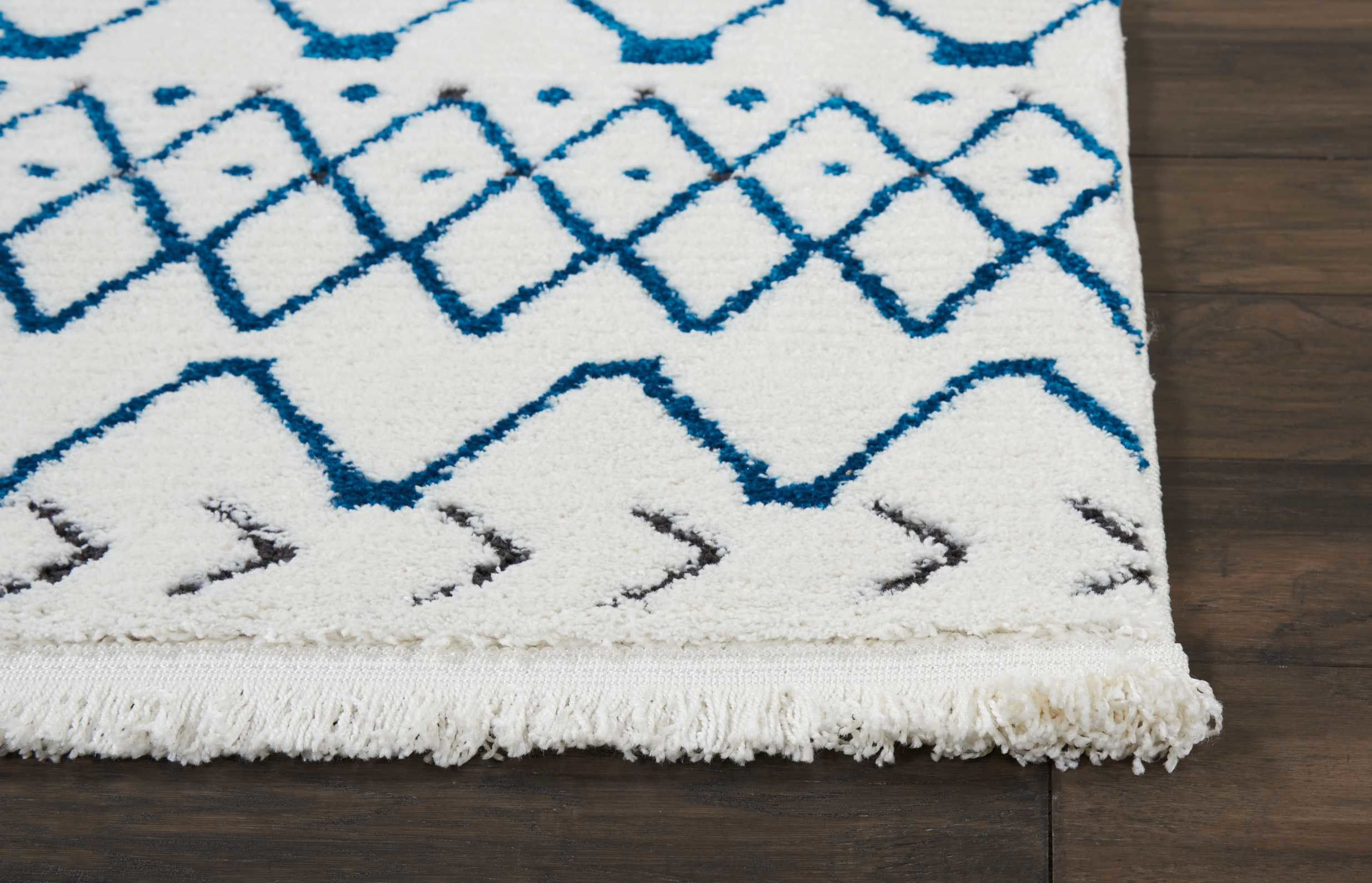 Emmett Rug Color White Blue Size 7 10 X 10 6 Hall Runner Colorful Rugs Woven Rug