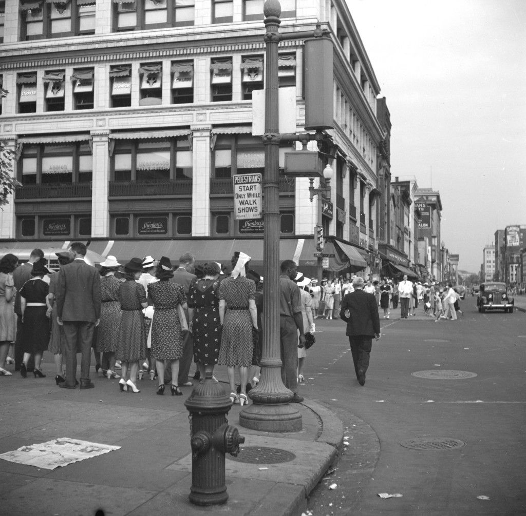 View of 13th Street in 1940s Ghosts of DC Street
