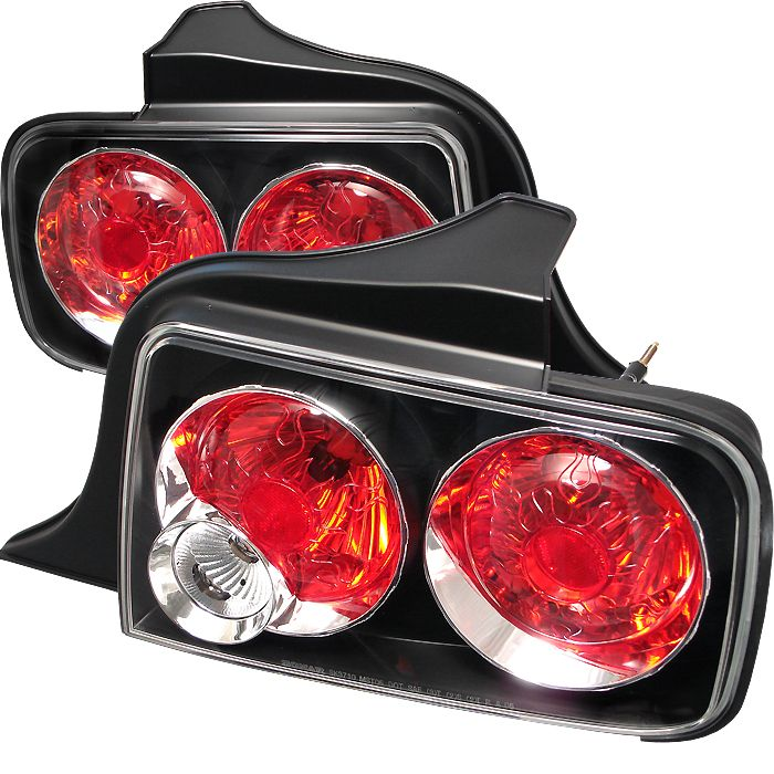 Ford Mustang 2005 2008 Black Euro Style Tail Lights Led Euro Tail