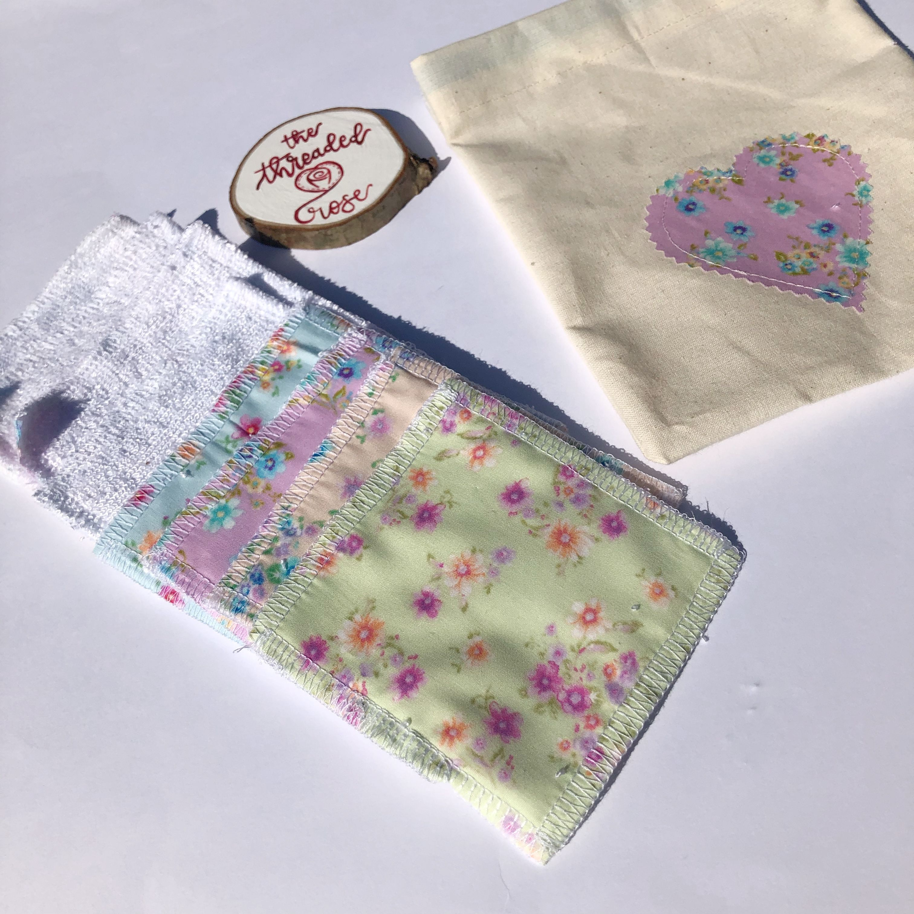 Pastel Floral Washable Wipes, make up remover wipes, eco