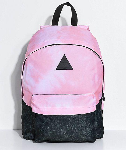 59fafda8719 Neff Professor Pink Tie Dye   Charcoal Backpack