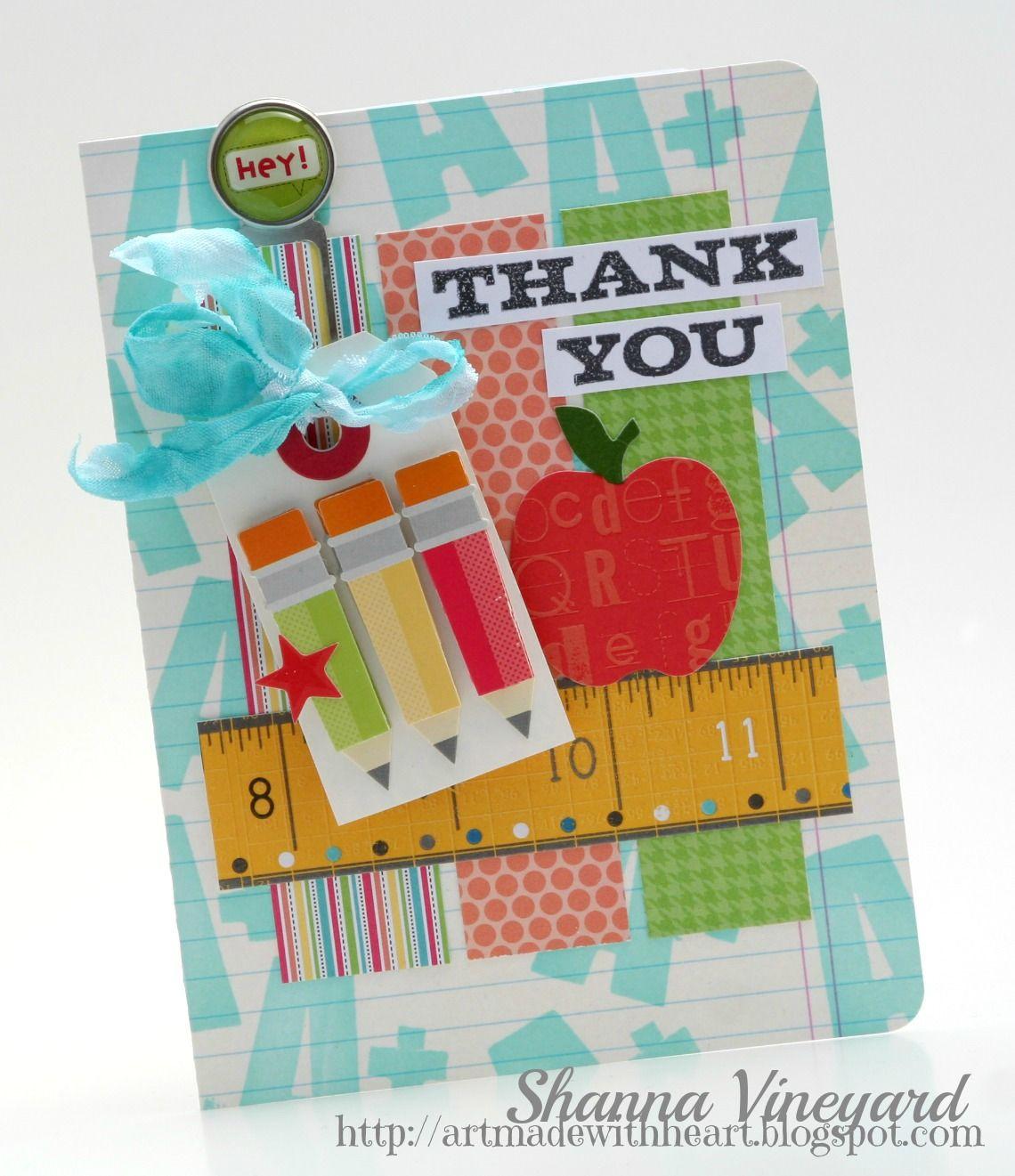 Scrapbook ideas for teachers - Thank You Teacher Card Scrapbook Com