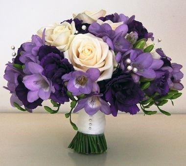 Purplebouquet Jpg 380 340 Hiasan Meja Bunga Mawar Ungu Buket Pengantin