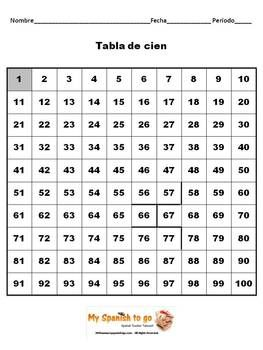 numbers spanish 1 100 worksheet with hundreds chart fun worksheets spanish worksheets and. Black Bedroom Furniture Sets. Home Design Ideas