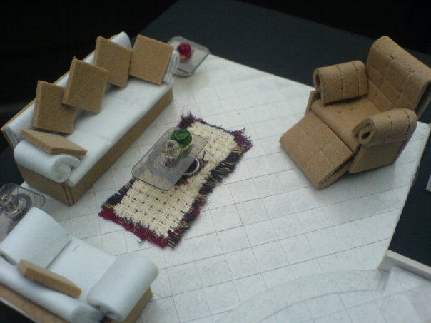 Como hacer muebles para maquetas de casas imagui - Casas miniaturas para construir ...
