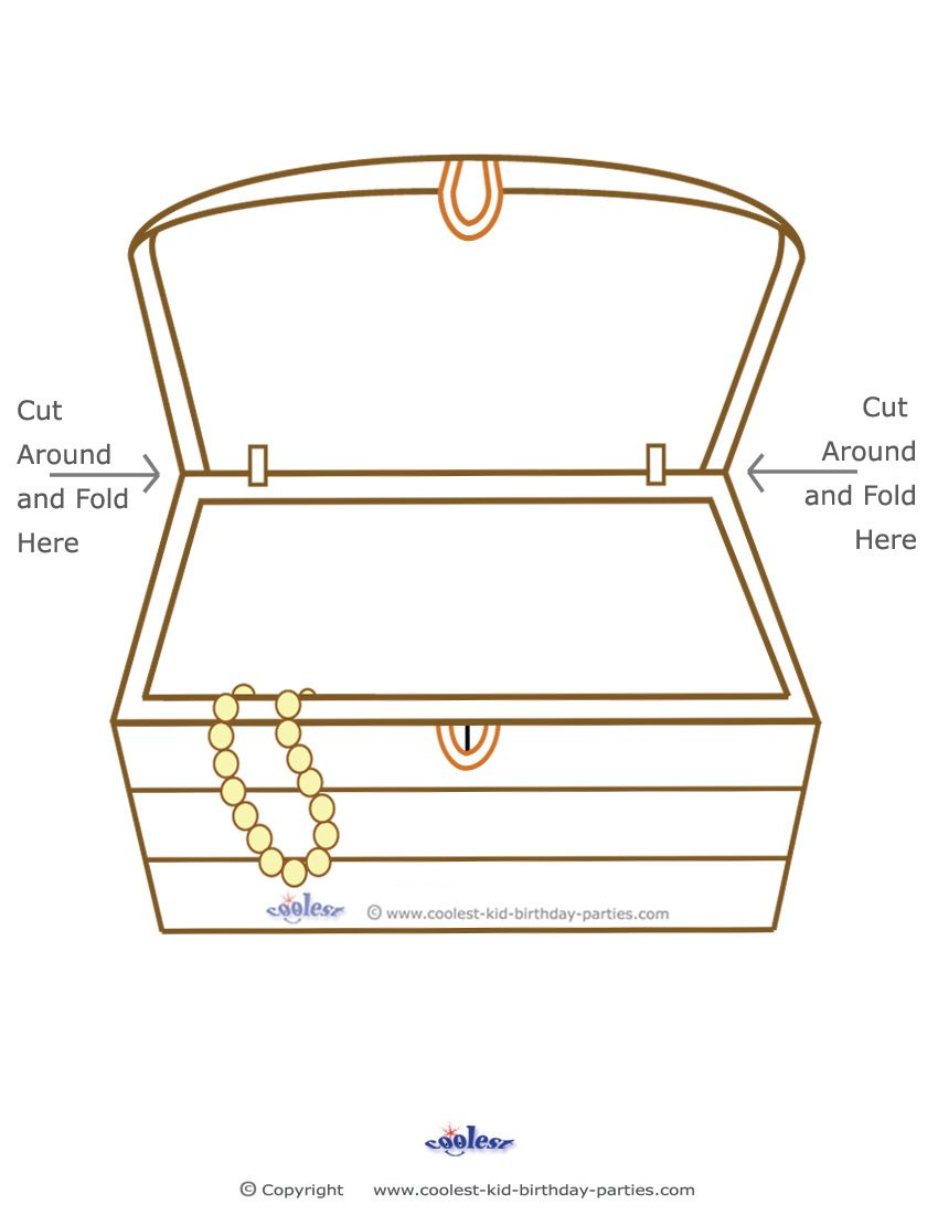 graphic about Printable Treasure Chests referred to as Cost-free Treasure Coloring Web pages Blank Printable Treasure
