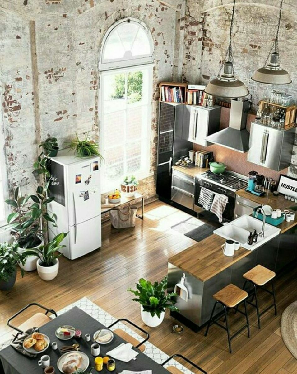 64 Small Modern Industrial Apartment Decoration Ideas
