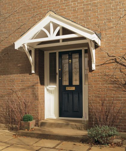 Apex porch canopy with gallows brackets. You can buy premade. & Apex porch canopy with gallows brackets. You can buy premade ...