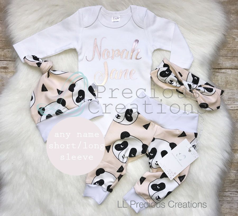 3cd39c797085 Organic Baby Girl Coming Home Outfit Newborn Girl Outfit ...