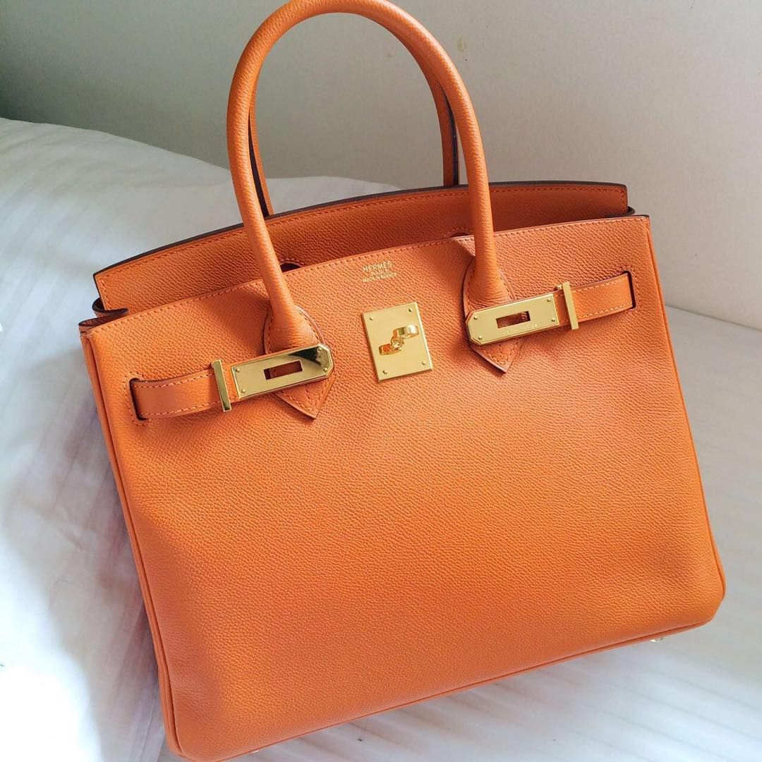 8329857013f7 Hermes Birkin 30 Orange epsom ghw