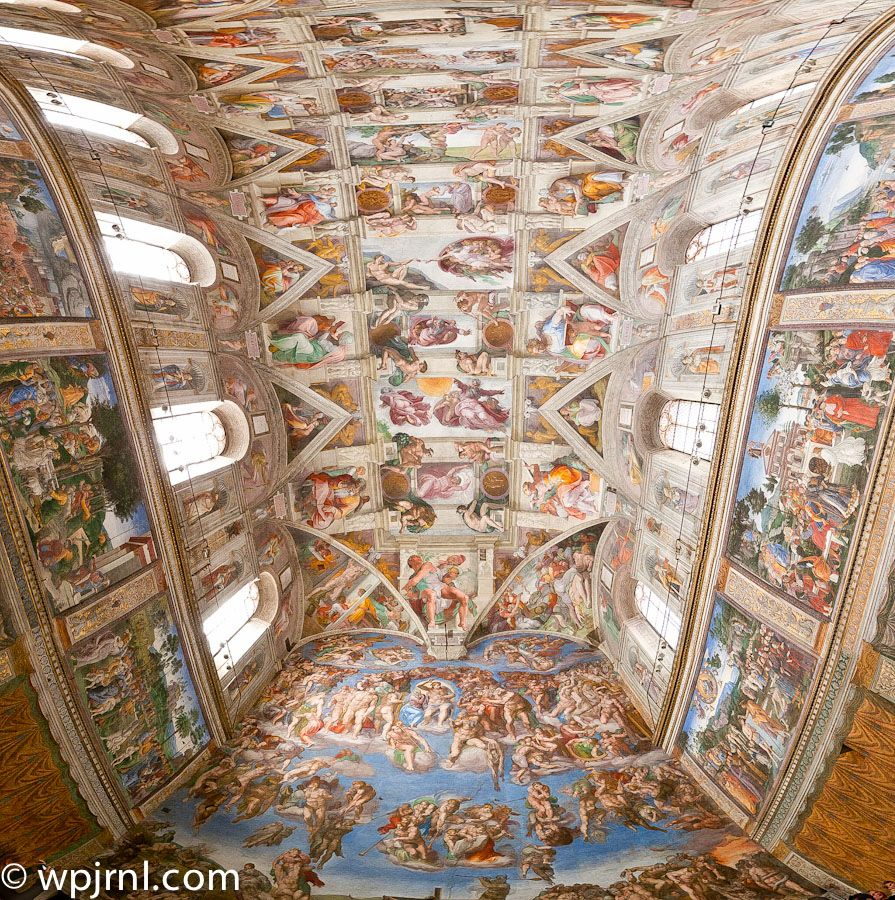 This Is A View Of The Sistine Chapel At The Vatican In Rome It Was