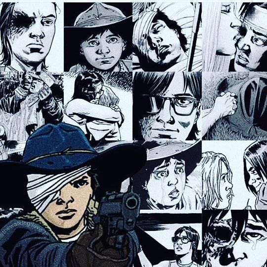 The evolution of Carl grimes comic version #twd # ...