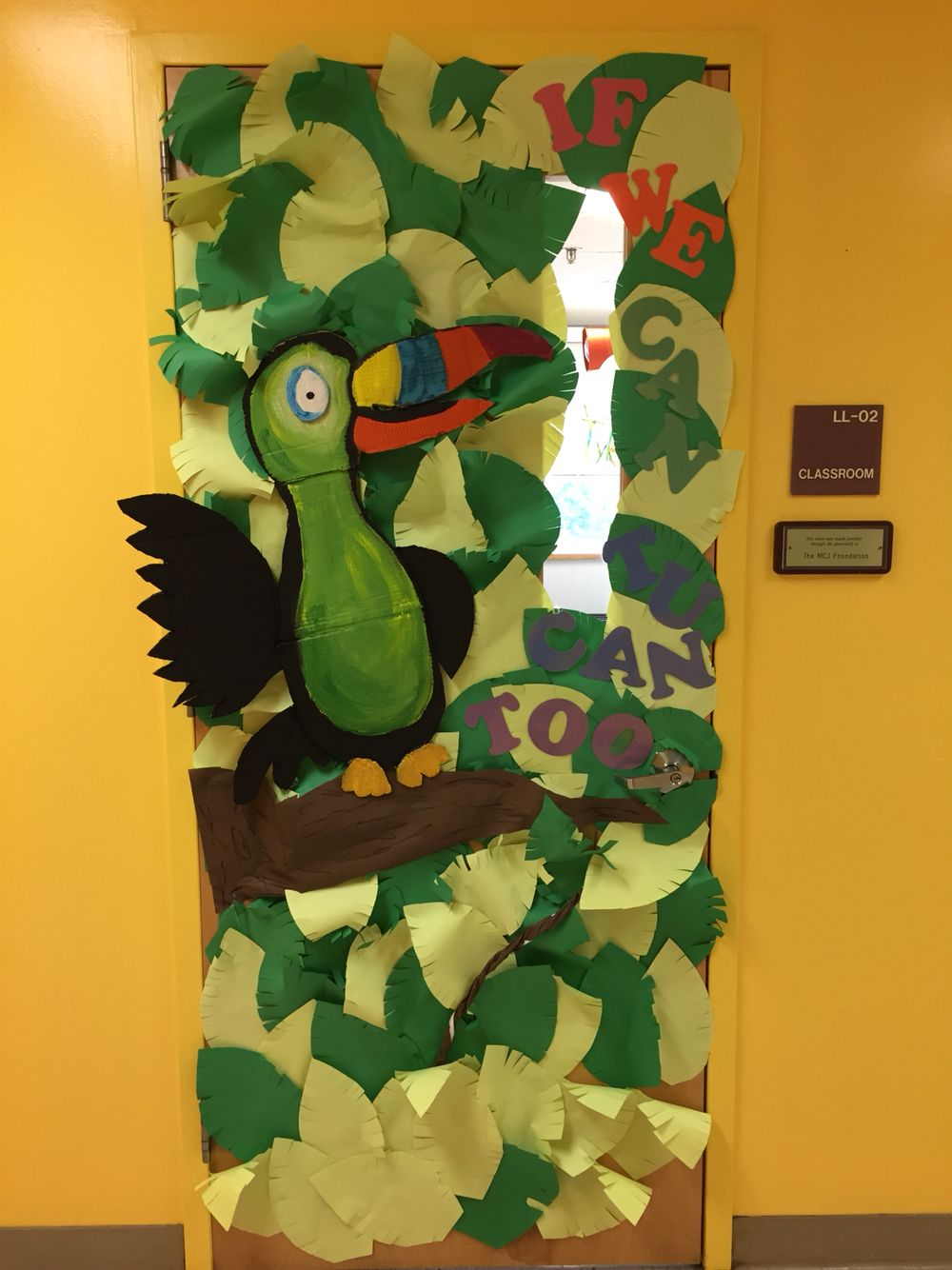 Classroom Ideas With Birds : Summer bird themed door quot if we can toucan too