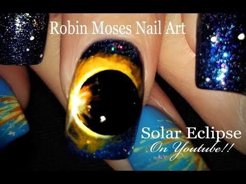 Solar Eclipse Nails Is It A Hollow Moon Shadowing Our Sun Unbelievable Nail Art Design Tutorial Youtu Solar Nail Designs Nail Art Videos Nail Art Tutorial