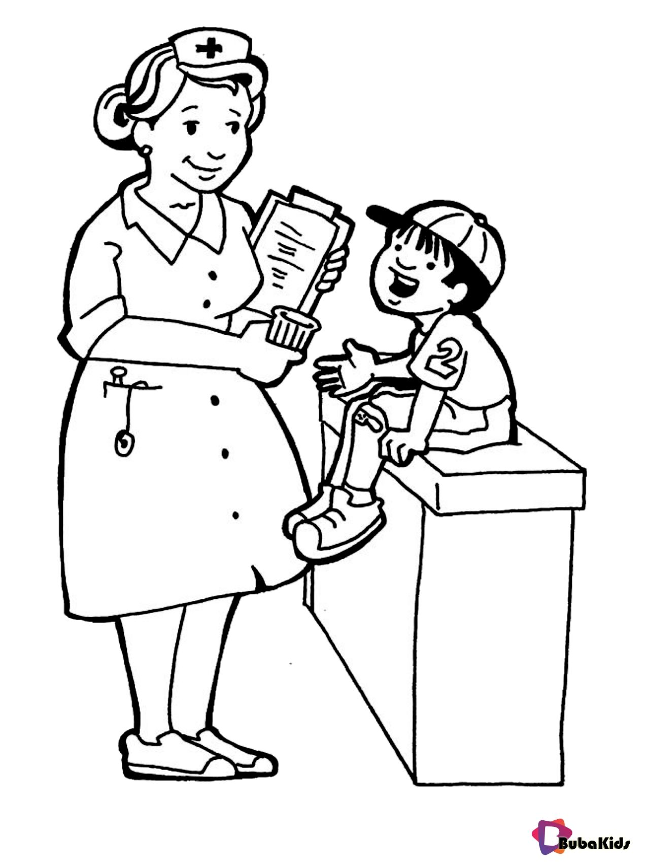 Kid Women Doctor Coloring Sheet Printable Coloring Pages For Kids Coloring Pages Preschool Coloring Pages