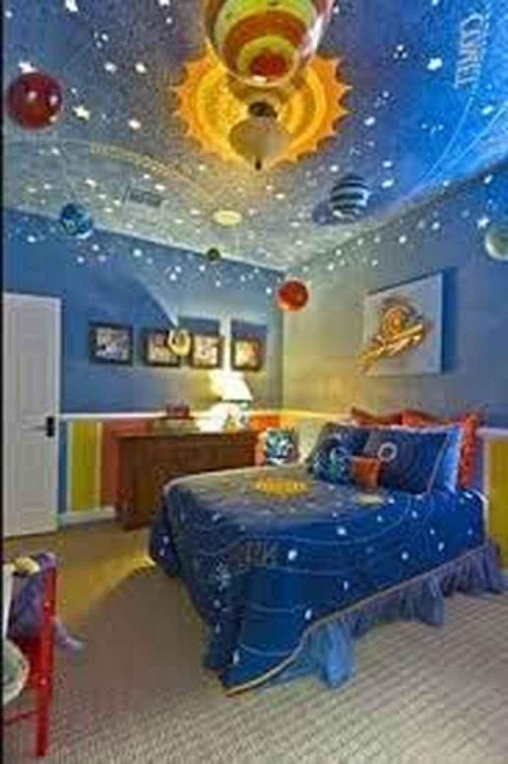 20 Inspiring Outer Space Themed Bedroom Ideas For Boys Space Themed Bedroom Space Themed Room Themed Kids Room