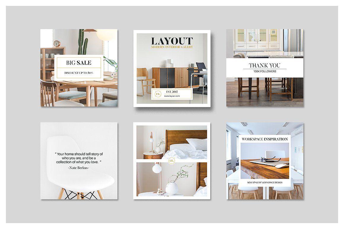 Layout Instagram Pack Setka Dizajn Dizajn Stranicy Katalog Dizajn