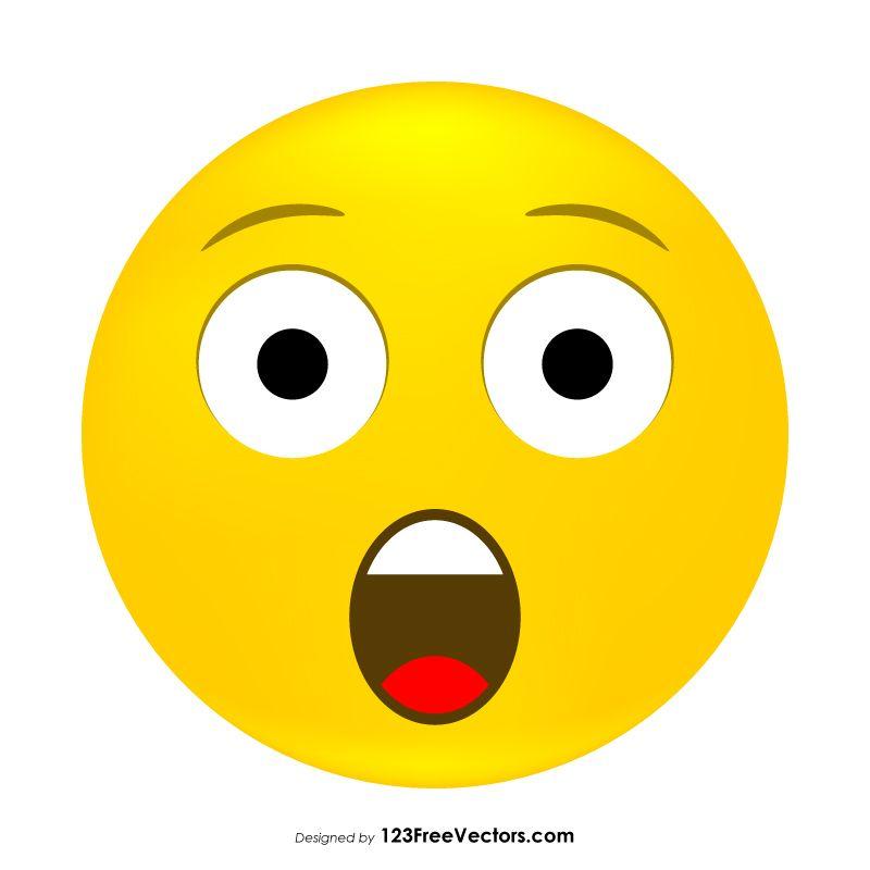 Astonished Face Emoji Clipart Emoji Clipart Emoji Clip Art