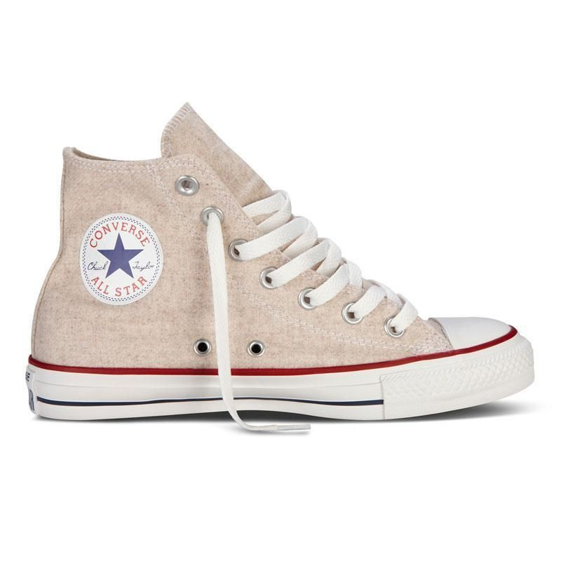 NUOVO All Star Converse Chucks Hi can HI WOOL White Cap Beige Sneaker 540330c