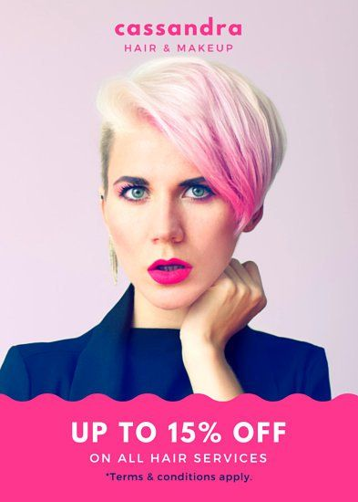 Bright Pink Hair Salon Flyer  Design Photo Art Photographer
