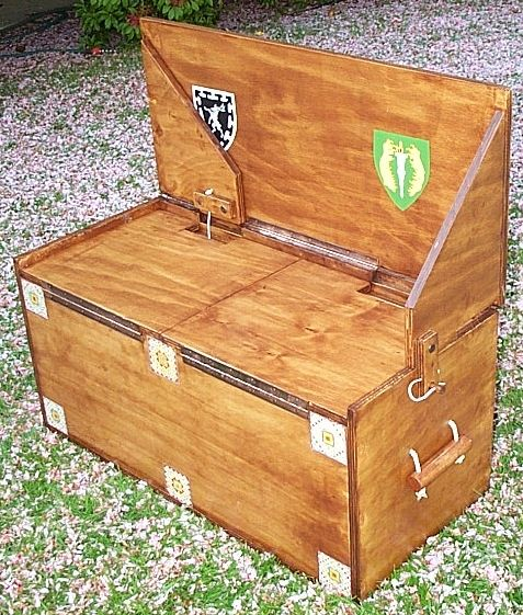 A Diy Combination Trunk And Bench Or A Camping Stove
