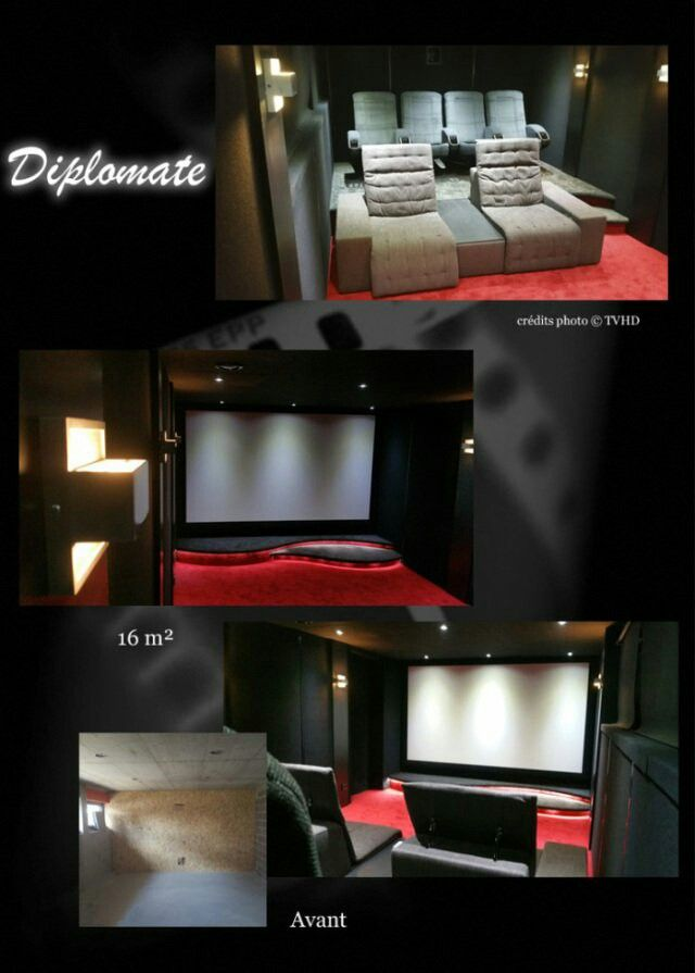 cinema maison home cinema vie de luxe salle cinema prive ecran geant cinephile videoprojecteur fauteuils cinema moquette salle de cinma la maison - Fauteuil Home Cinema