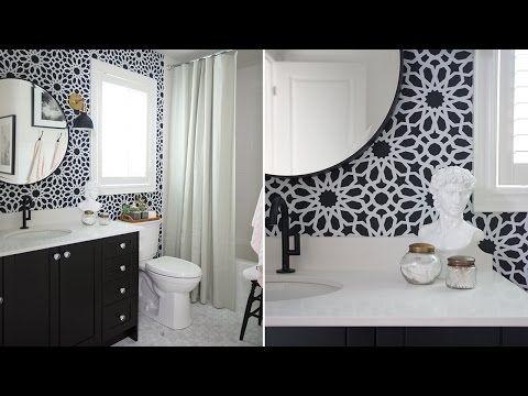 Interior Design A Stylish Bathroom Makeover On A Budget YouTube - Easy bathroom makeovers