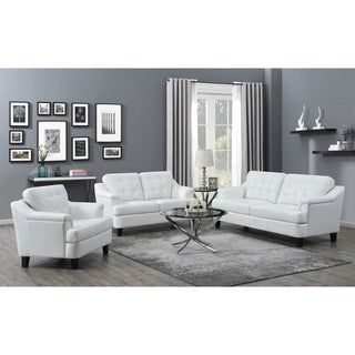 Overstock Com Online Shopping Bedding Furniture Electronics Jewelry Clothing More In 2020 White Furniture Living Room White Leather Sofas 3 Piece Living Room Set