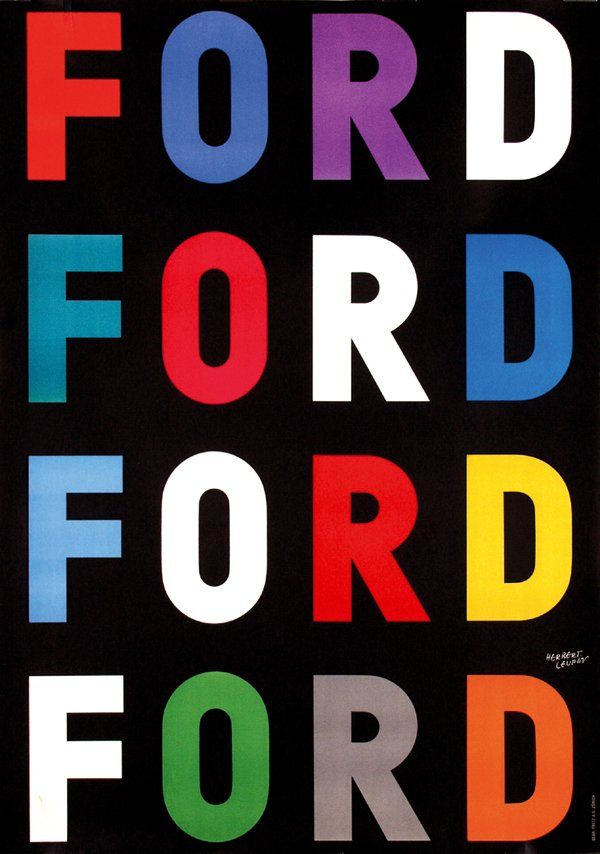 Poster By Herbert Leupin Ford Reminds Me Of Brave New World Oh Ford Vintage Posters Advertising Poster Ford