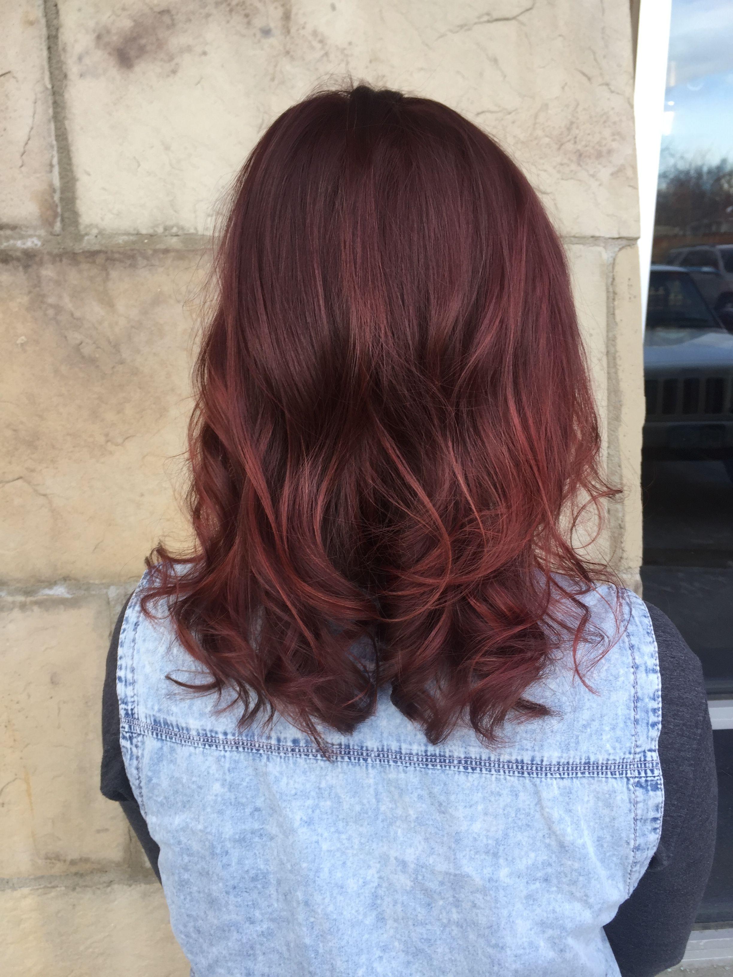 Deep Merlot Color Melt Beauty By Allison Fort Collins Hair Salon