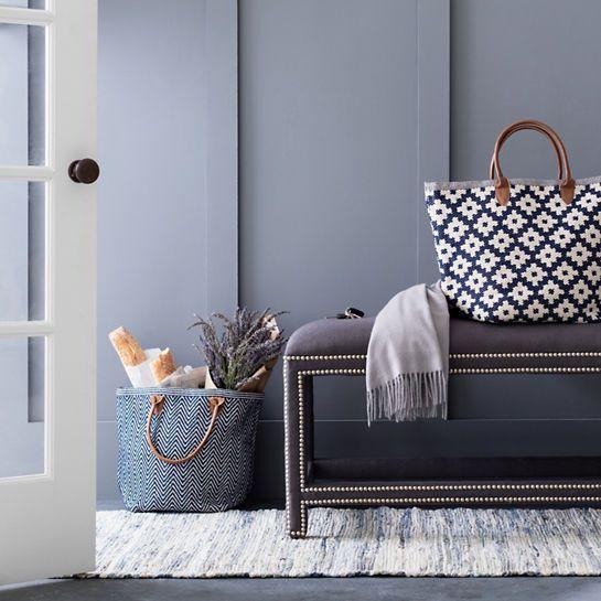 Denim Rag Woven Cotton Rug Dash Albert Mudroom Decor Design Small Apartment Modern