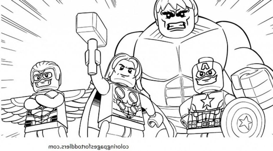 Lego Superheroes Coloring Pages Gambar