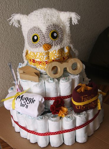 Harry Potter Baby Shower · HP Themed Baby Shower, Complete With  HP/Quidditch Cake, HP Diaper Cake,