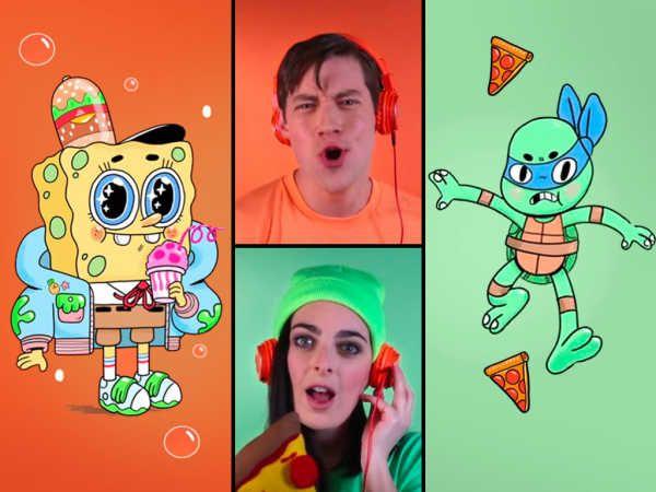 Acapella Theme Song Battle SpongeBob SquarePants and