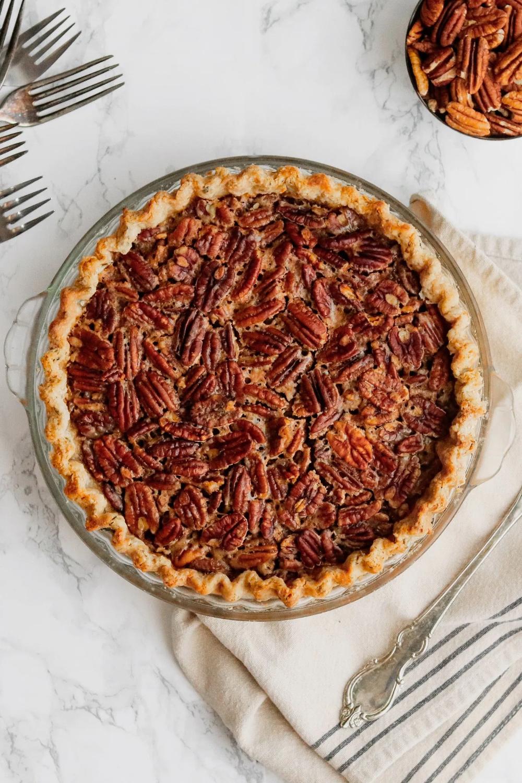 Maple Bourbon Pecan Pie Recipe - Pies & Tarts -