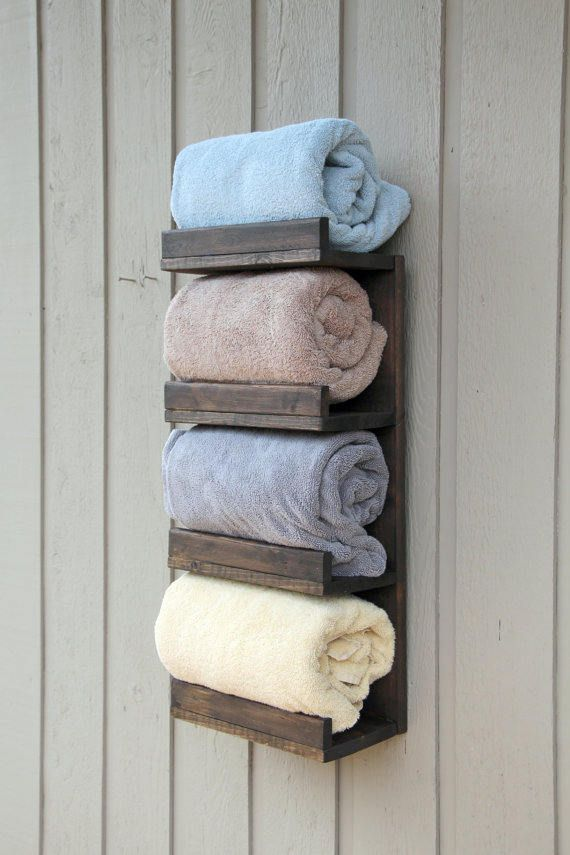 Bathroom Towel Rack 4 Tier Bath Storage Everyday Towel Rack Etsy In 2020 Bath Towel Storage Towel Rack Bathroom Bathroom Towels