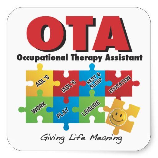 OTA - Occupational Therapy Assistant Sticker -COTA | Pinterest ...